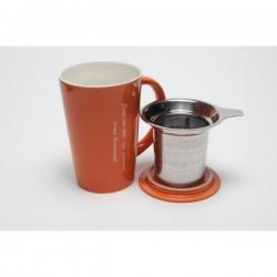 Mug avec infuseur intégré - Orange  Origines Tea and Coffee