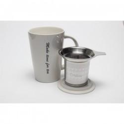 Mug avec infuseur intégré - Blanc   Origines Tea and Coffee