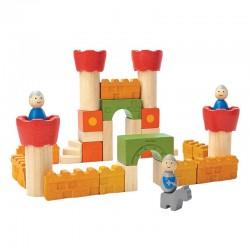 Blocs de château en bois - 35 unités