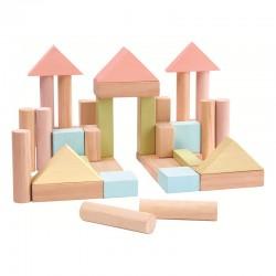 Blocs de construction pastel - 40 unités