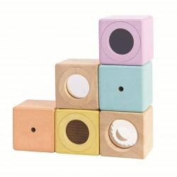 Blocs sensoriels pastel - set de 6