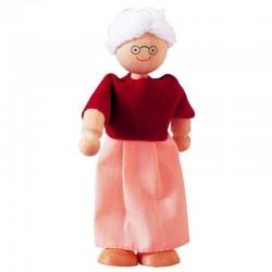 Poupée grand-mère en bois