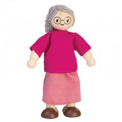 Poupée grand-mère en bois 2