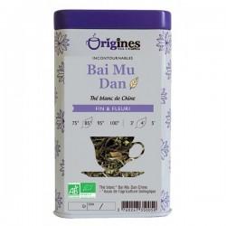 Thé Blanc Bio Bai Mu Dan Chine  50 g