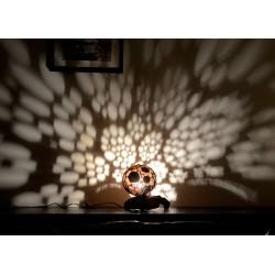 """Lampe en Calebasse """"Corail"""""""