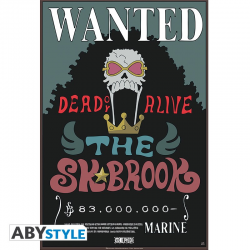 Poster One piece Wanted crew -Brook