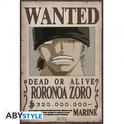 Poster One piece wanted crew - Zoro
