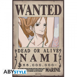 Poster One piece Wanted crew - Nami