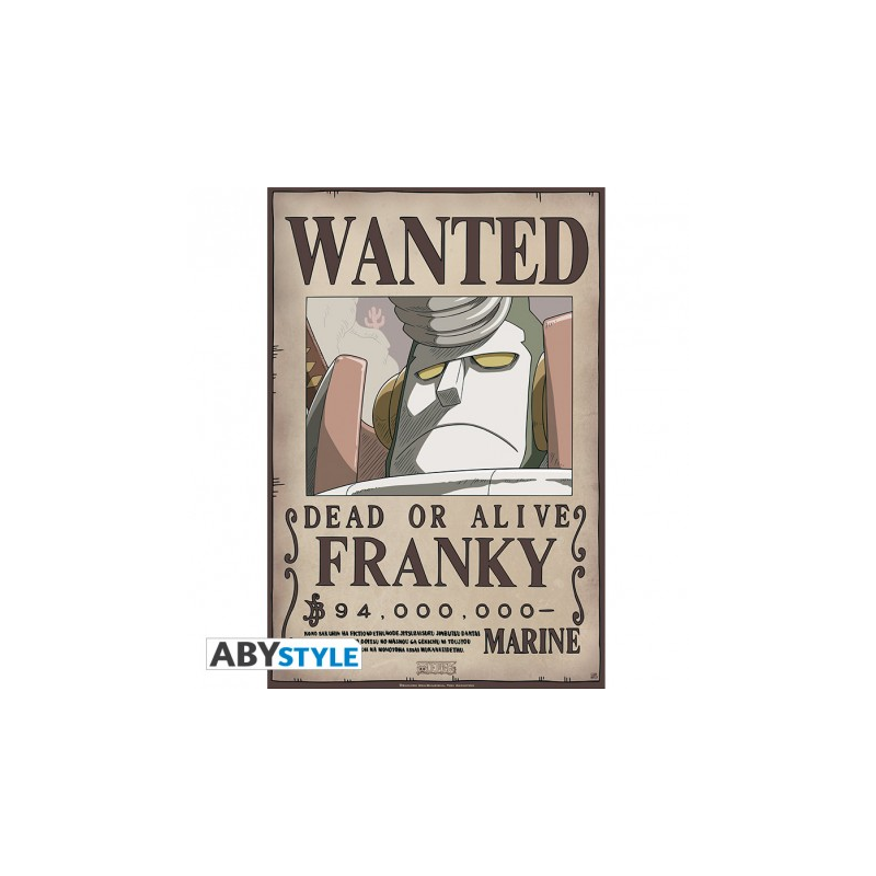Poster One piece Wanted crew - Franky