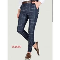 Pantalon A carreaux bleu foncé