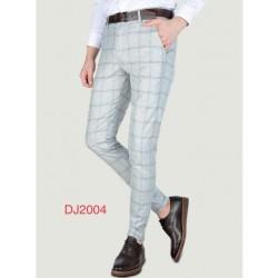 Pantalon A carreaux gris clair