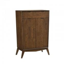 Meuble rangement 2 portes en bois