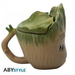 Mug 3D Groot avec son couvercle