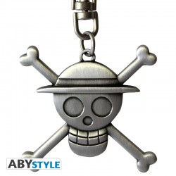 one-piece-porte-cles-3d-skull-luffy