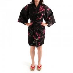 Kimono Hanten Femme Oiseaux et Fleurs de Prune