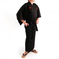 Kimono Kanji Homme Noir/Argent