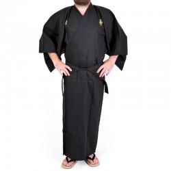 Kimono Kanji Noir/Jaune Homme