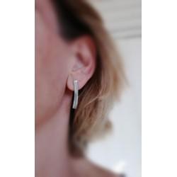 Boucles d'oreilles forme barre en argent 925