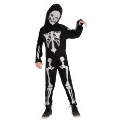 Déguisement squelette et cagoule enfant
