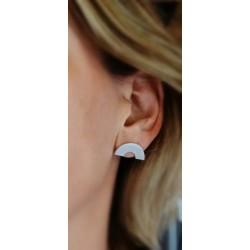 Boucles d'oreilles demi cercle en argent 925
