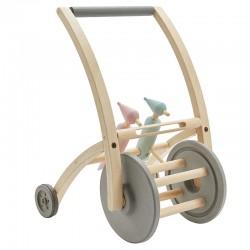 Chariot de marche en bois avec piverts - Plan Toys