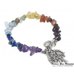 Bracelet copeaux 7 chakras arbre de vie - Bijoux zen