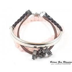Bracelet pierre de jade et bracelet ciré - Bijoux zen Réunion