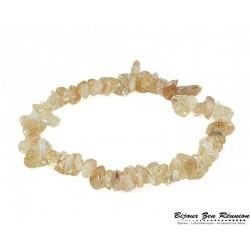 Bracelet citrine copeaux - Bijoux zen Réunion