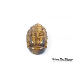 Pendentif bouddha en oeil-de-tigre - Bijoux zen Réunion