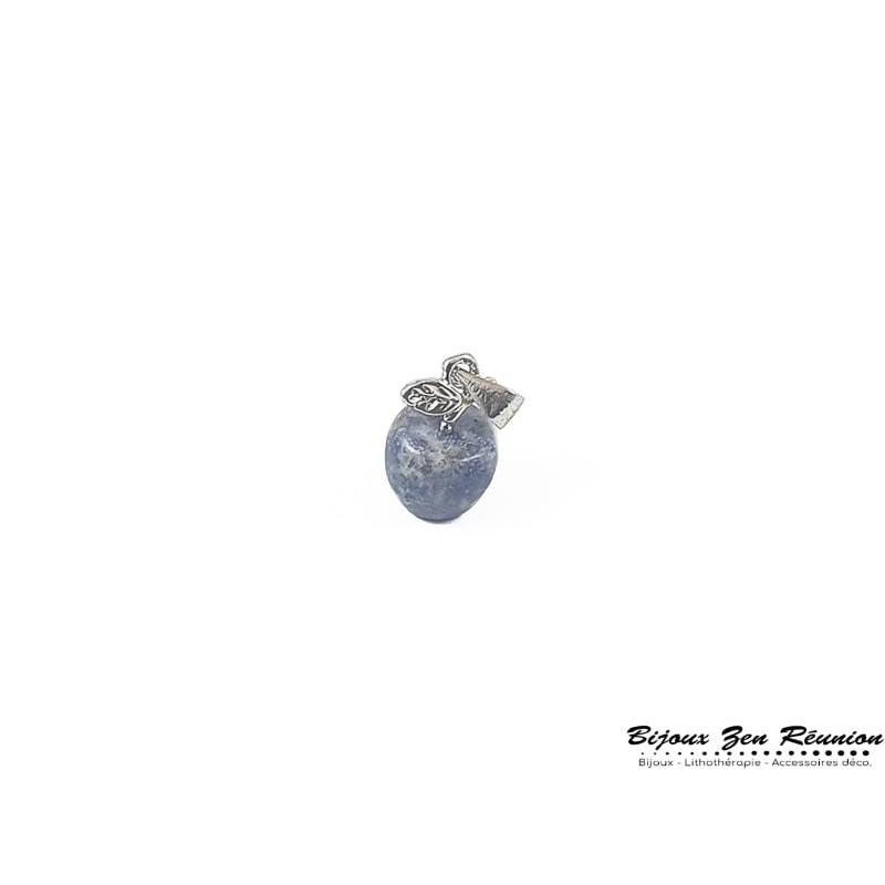 Pendentif pomme en lapis lazuli - Bijoux zen Réunion