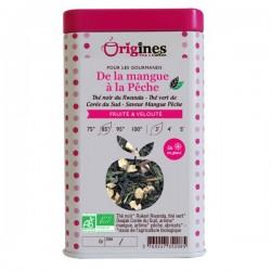Thé Bio Noir & Vert De la Mangue à la Pêche  100 g