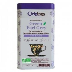 Thé Vert Bio Green Earl Grey Ceylan  100 g